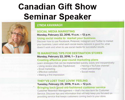 Training at the Alberta Gift Show