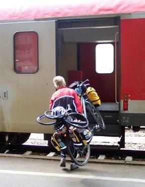 Lynda cycling in Austria