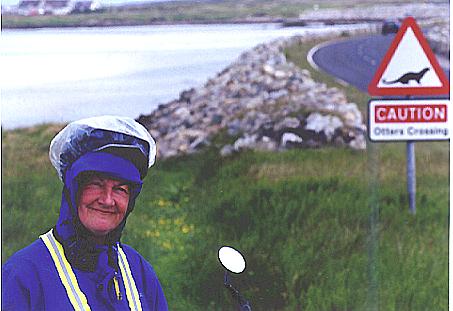 Lynda Cycling in Scotland